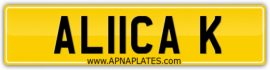 alicia keys number plate