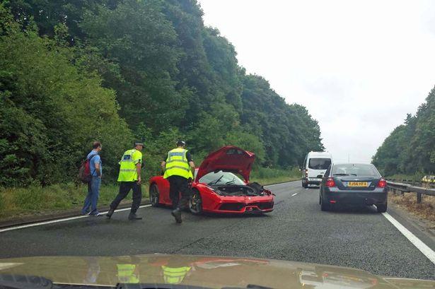 Moment Driver Crashes £200,000 Ferrari On Test Drive