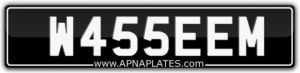 MUSLIM NUMBER PLATE FOR SALE W455EEM WASSEEM FIRSTNAME