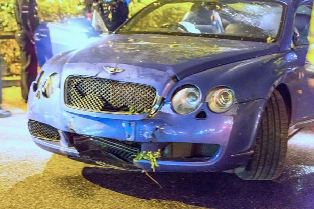 Lamborghini and Bentley supercars worth £350,000 crash in the same town on same night