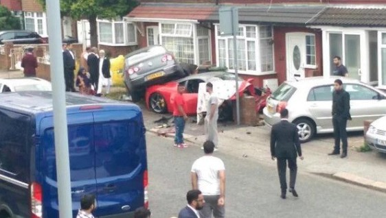 Ferrari Italia supercar hired for wedding is written off by guest