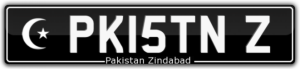 MUSLIM NUMBER PLATE FOR SALE PK15TN Z PAKISTAN ZINDABAD PAKISTANI\'S PAKISTAN