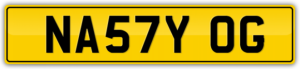 UK\BRITISH NUMBER PLATE FOR SALE NA57Y OG NASTY ORIGINAL GANGSTER
