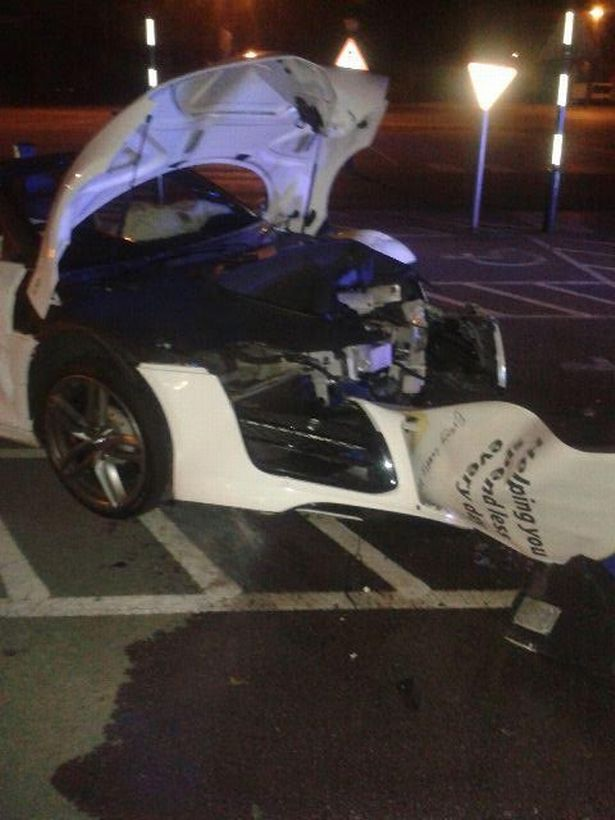 Stag do supercar wrecked in high-speed police chase
